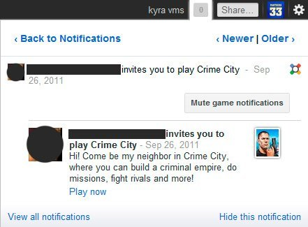 Google+ introduce notificaciones en el pestaña del navegador e implementa cambios en Games