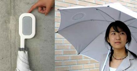 Escuchando música bajo la lluvia: paraguas con altavoces