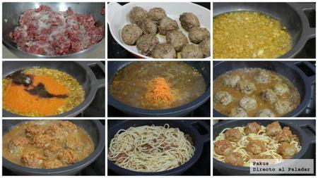 Espagueti Meatballs Pasos