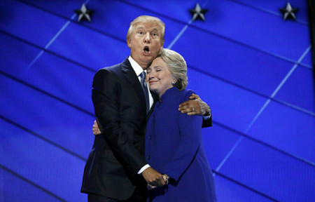 Barack Obama Hillary Clinton Hug Photoshop Battle 9