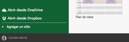 Opciones Excel