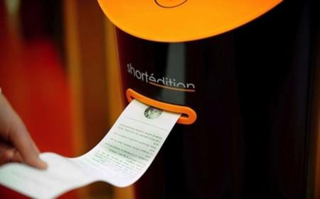 Las máquinas expendedoras evolucionan, ahora son capaces de ofrecer cuentos