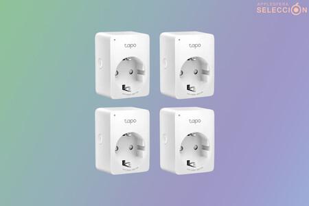 """Los mini enchufes """"inteligentes"""" TP-Link Tapo P100 son un chollo en Amazon: cuatro unidades por 33,99 euros"""