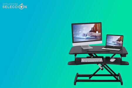 Trabaja más cómodamente con este escritorio eléctrico de sobremesa: bandeja extraíble, USB y silencioso por 159,99 euros en Amazon