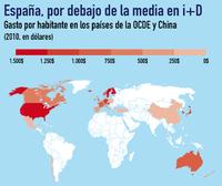 I+D+i en España: a la baja desde el comienzo de la crisis (infografía)