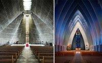 También hay iglesias de diseño