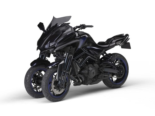 Curioso pero cierto. La Yamaha MWT-09 de tres ruedas finalmente se llevará a la producción