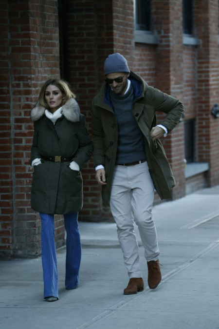 Olivia Palermo And Johannes Huebl Wearing Peuterey 1