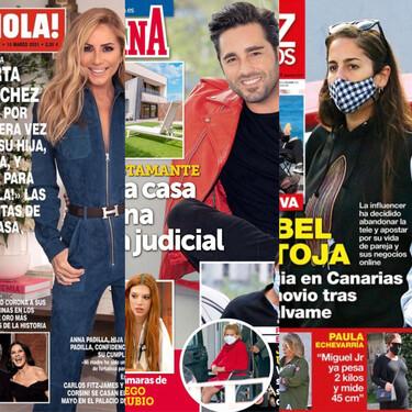 Anabel Pantoja deja la tele, Marta Sánchez presenta a su hija y  David Bustamante se muda a un carísimo casoplón: Estas son las portadas del miércoles tres de marzo