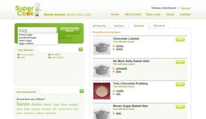 SuperCook, indica los ingredientes que dispones y obtendrás recetas que podrás realizar
