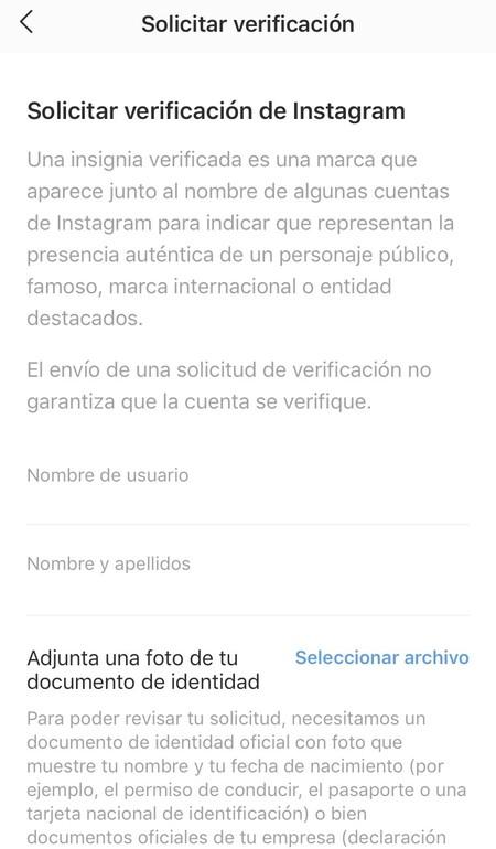 Verificacion Instagram