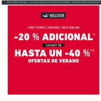 Ofertas de verano Hollister: hasta un 40% de descuento más un 20% adicional