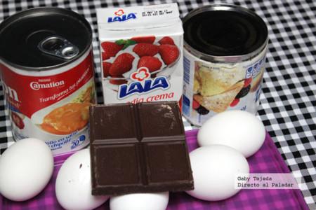 Flan de chocolate ingredientes agtc cmda