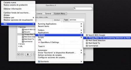 openmenu x organiza menu contextual
