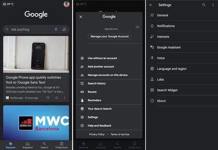 Google Ajustes Reorganización