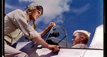 Fotografías de los años 40 realizadas en Estados Unidos con la mítica película Kodachrome