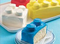 Tartas en forma de ladrillos de Lego