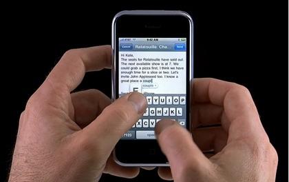 Así se utiliza el teclado virtual del iPhone