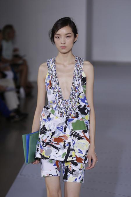 Vestido estampado de Jil Sander Primavera Verano 2014 Semana de la Moda de Milan