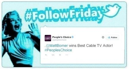 #FollowFriday de Poprosa: Los People's Choice Awards se cocieron en la red