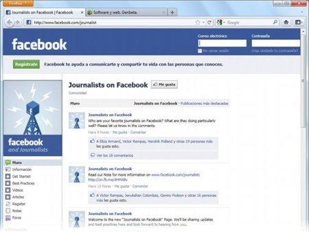Facebook crea una página para periodistas