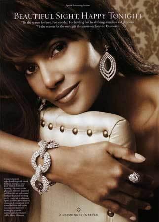 "Halle Berry protagonista de la campaña ""A Diamond is Forever"""