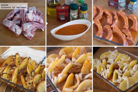 Costillas con salsa cajún - elaboración