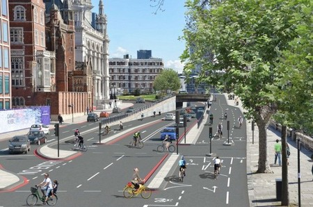 Londres Carril Bici Autopista