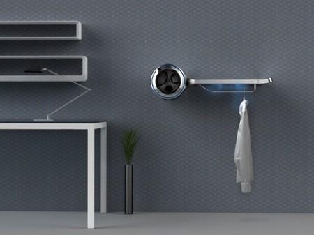 Futurista lavandería de pared para <em>singles</em>