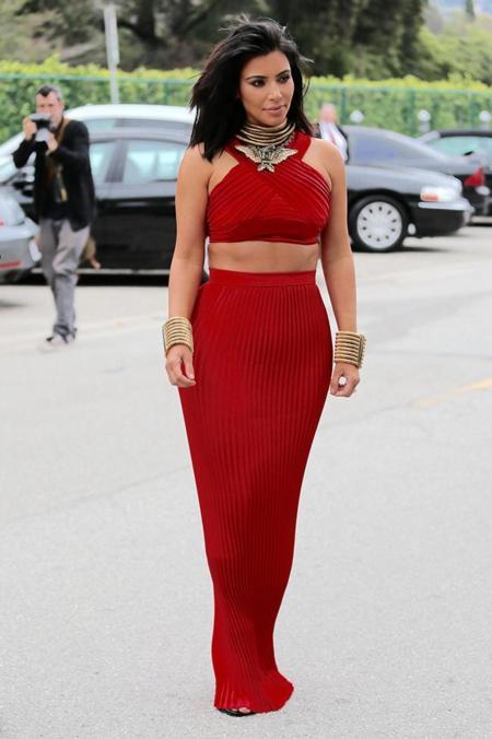 Kim Kardashian Pre Grammy Roc Nation Fiesta 2015