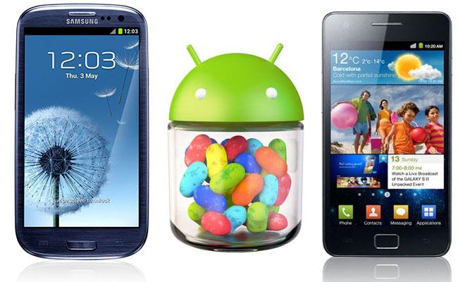 Samsung Galaxy SII y SIII con Jelly Bean
