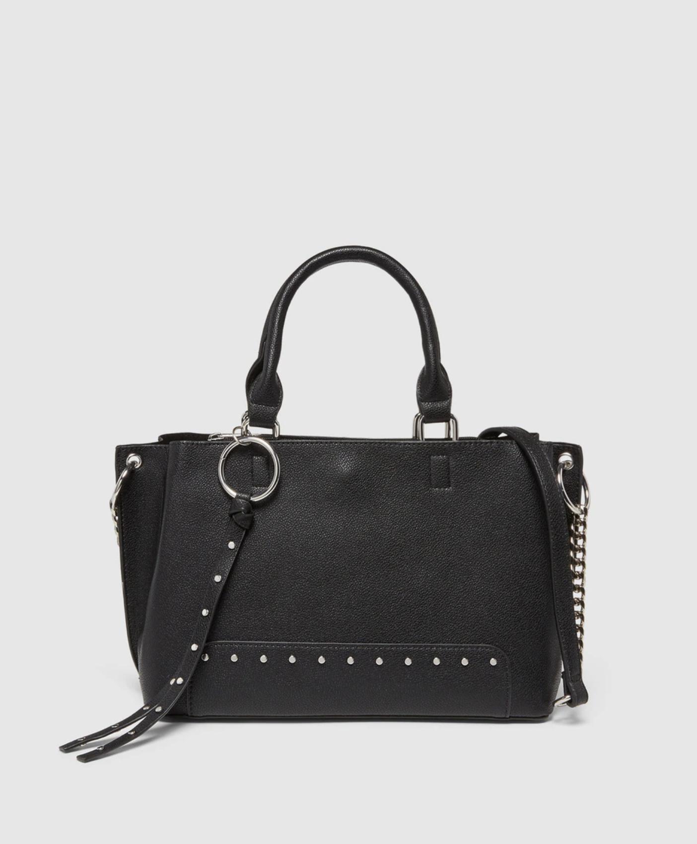 Bolso shopper El Corte Inglés en negro con tachas