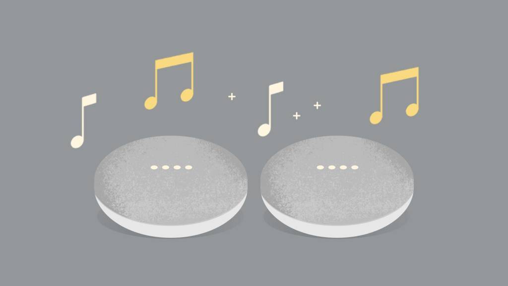 How to pair two speakers Google Home, Home Mini or Nest Mini to a stereo sound