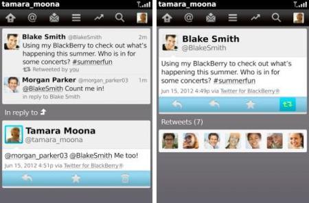 Twitter 3.1.0.20 para BlackBerry, conveniente puesta al día