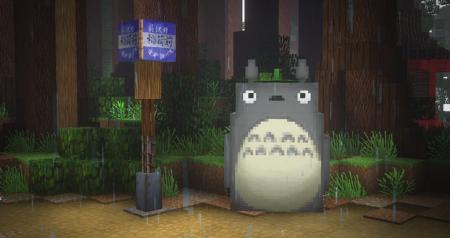 Mi Vecino Totoro es recreado a la perfección en Minecraft gracias a unos fans