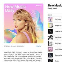 Apple Music estrena 'New Music Daily', su nueva playlist con actualizaciones diarias
