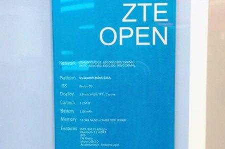 Teléfono ZTE Open