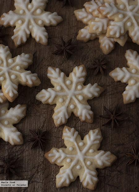 Galletas copo de nieve. Receta de Navidad con Thermomix