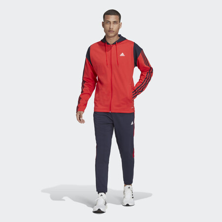 Chandal Adidas Sportswear Ribbed Insert Rojo H42016 21 Model