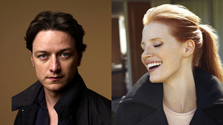 James McAvoy y Jessica Chastain en 'The Disappearance of Eleanor Rigby'
