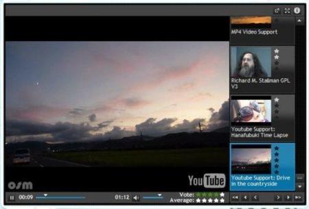 OSMPlayer, reproductor de vídeo web de código libre