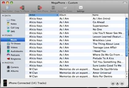 MegaPhone: gestiona tu iPhone/iPod Touch de  manera sencilla