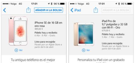 Reservas abiertas en España y fecha de lanzamiento del iPhone SE y iPad Pro confirmadas