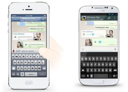 WhatsApp añade mensajería de voz al estilo 'push to talk'