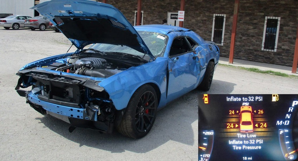 Hellcat Totaled Low Mileage 16