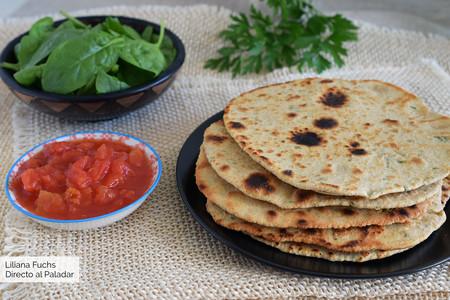 Chapati con harina de garbanzos: receta fácil de pan plano en sartén sin levadura