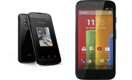 Motorola Moto G y Nexus 4