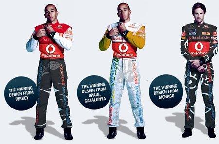 Así vestirán los pilotos de McLaren en los grandes premios de Turquía, España y Mónaco