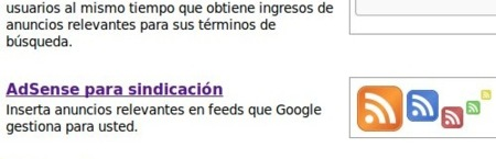 Google AdSense disponible para sindicación de feeds