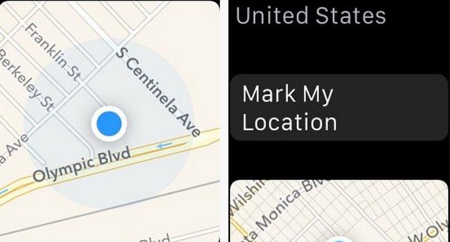 Apple Watch Maps App